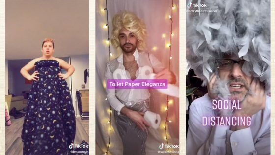 Quand des drag queen occupent leur confinement en créant des tenues « home made »